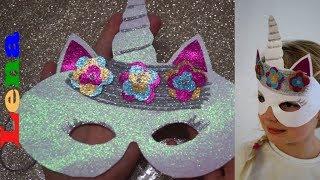 Einhorn Maske basteln  🦄  How to make a unicorn mask ✂ как сделать маску единорога из бумаги
