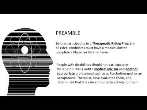 Who Should Ride In A Therapeutic Riding Program - YouTube