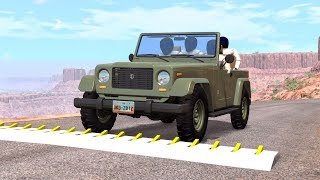 Massive Spike Strip Pileup Crashes #4 – BeamNG Drive | CrashBoomPunk