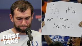 Andrew Luck will be remembered for retiring early – Stephen A. | First Take