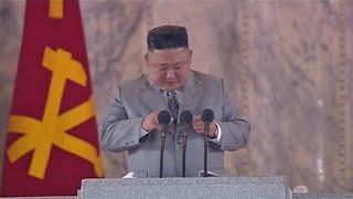 video: Watch: Kim Jong-un appears emotional in military parade speech