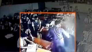 Uttar Pradesh Teacher Madly Beat Student in Class, Caught on CCTV