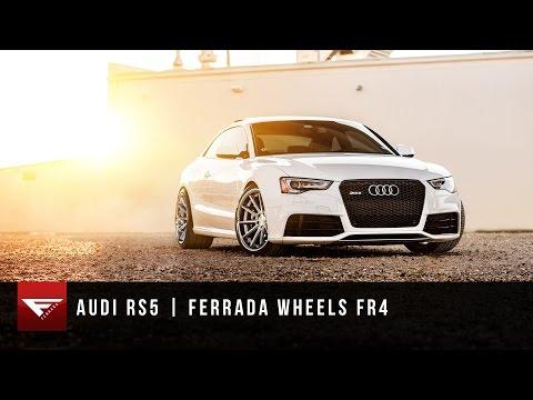 Audi RS5 | Ferrada Wheels FR4 in Machine Silver