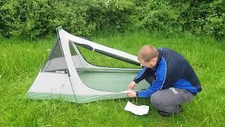 GEERTOP 1 Person 3-4 Season Lightweight Aluminum Pole Backpacking Bivy Tent
