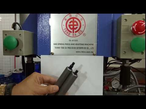 TD-AT155,GAS SPRING GAS LIFT PRESS GAS SPRING COMPONENTS AND CLOSING TUBE MACHINE,gas spring cylinder end closing machine,gas spring cylinder slotting machine,gas spring cylinder edge folding machine,gas spring cylinder grooving machine,