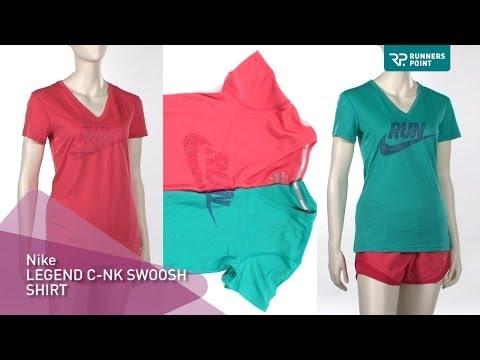 Damen Laufshirt Nike Legend Swoosh Run Shirt