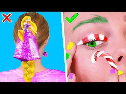 12 Бьюти ЛАЙФХАКОВ и причёсок для девочек на Новый Год ПРАЗДНИЧНЫЕ СОВЕТЫ И ИДЕИ ЛИФЕ ХАККС