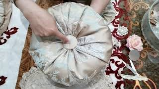 Круглая подушка своими руками