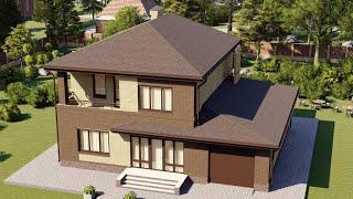 Проект дома 177-A, Площадь дома: 177 м2, Размер дома:  13,5x11,4 м