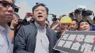 20190812 何君堯與泛民議員於水炮車示範活動起口角