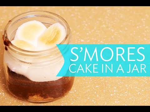 Video S'MORES CAKE IN A MASON JAR | How To And Recipe | Broke But Bougie