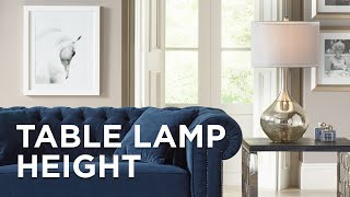Table Lamp Height Guide