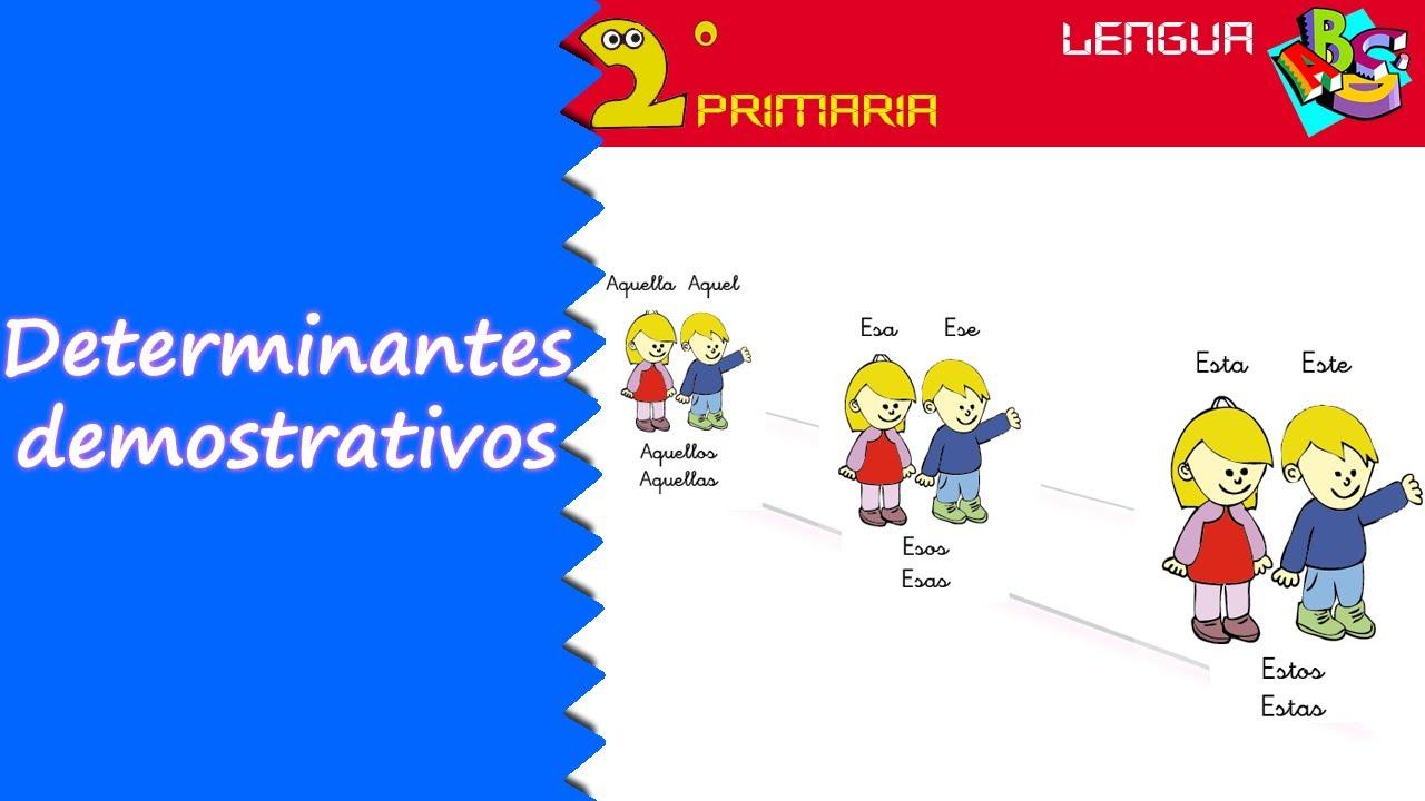 Lengua Castellana. 2º Primaria. Tema 6. Los demostrativos