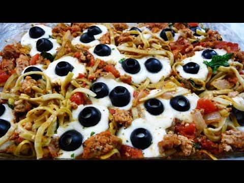 Spooky Eyeball-Pasta for Halloween recipe (mozarella balls)