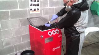 S300A Solvent Spray Gun Cleaner – Operation