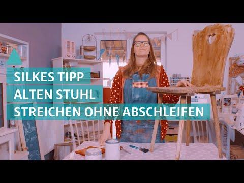 How to: Alten Stuhl streichen OHNE abschleifen - Silkes Schöne Sachen   BAUEN & WOHNEN
