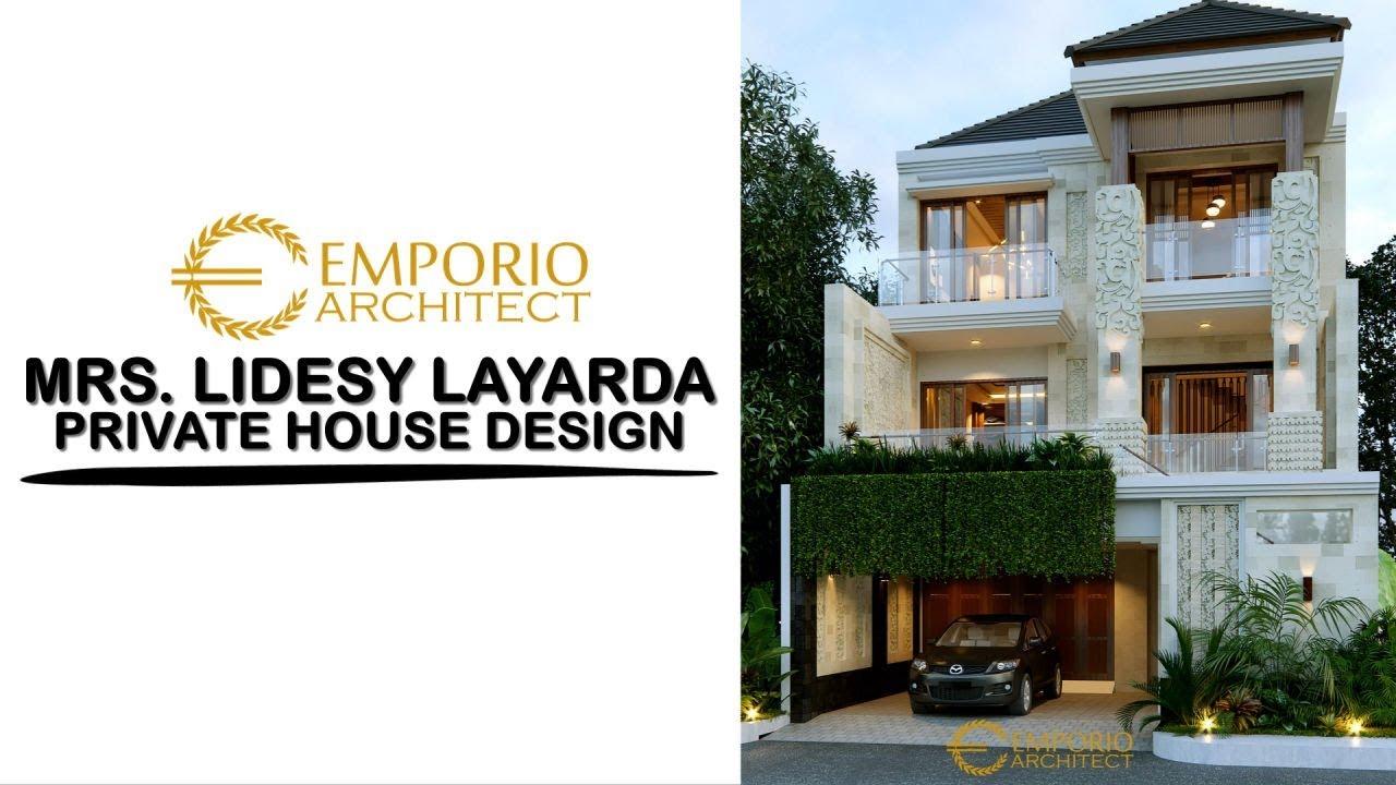 Video 3D Desain Rumah Villa Bali 3 Lantai Ibu Lidesy Layarda di Surabaya