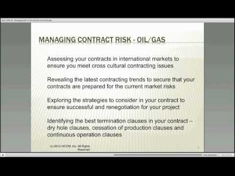 Fundamentals of Contracting in Oil and Gas Part One - Online ...
