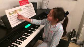 Araminta Playing Little Indian Brave on the piano