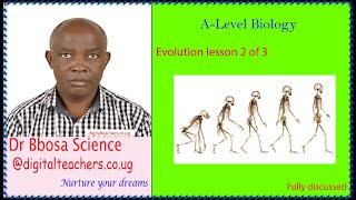 Evolution (A-level) lesson 2 of 3