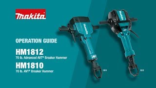Makita Breaker Hammer Operation Guide (HM1810, HM1812) - Thumbnail