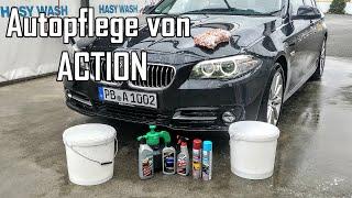 Autopflege von ACTION im Test - Auto Waschen mit billigen Produkten