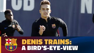 Quality touches from Denis Suárez at the Ciutat Esportiva