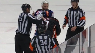 Oilers and Ducks get a little chippy in the dying seconds