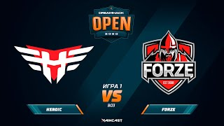 Heroic vs FORZE [Map 1, Inferno] (Best of 3) DreamHack Anaheim 2020 | Qual