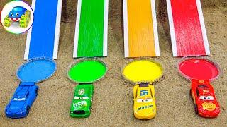 Cars playing the slide change color - Kid Studio