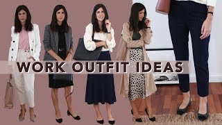 TRANSITIONAL WORKWEAR OUTFIT IDEAS - 10 Autumn & Spring Style Office Outfits | Mademoiselle