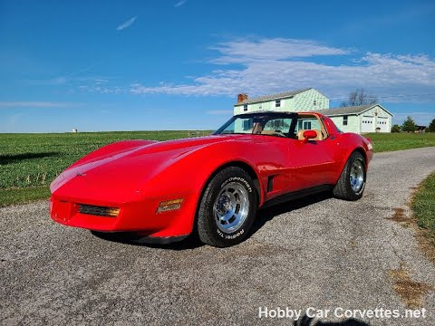 1981 Real Red Corvette Camel Interior Manual For Sale Video