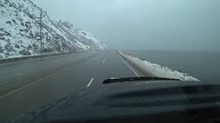 Trucking Penticton to West Kelowna, beautiful snow fall