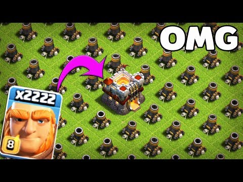 2222 Max Giant VS Ful Max Morter Base Attack On Coc Private Server