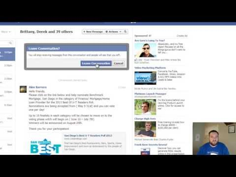 How to Leave or Delete a Facebook Group Conversation Message