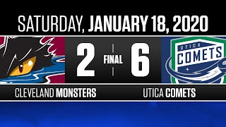 Monsters vs. Comets | Jan. 18, 2020