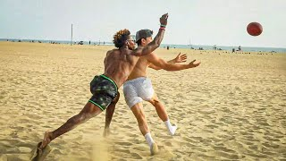 EXPOSING D1 PLAYERS DURING BEACH 7ON7S!! (MY BEST GAME EVER)