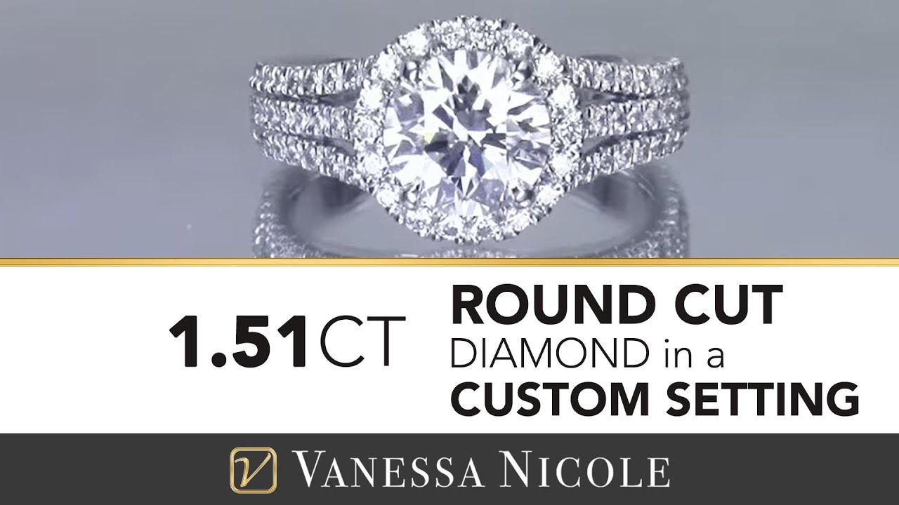 1.51ct 3 Row Diamond Ring