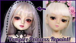 이번엔 뱀파이어 여동생! 45cm 도리스돌 뱀파이어 프린세스로 리페인팅! Custom OOAK Repaint Doll/딩가의 회전목마 (DINGA)