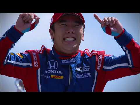 Celebration of First Japanese Winner of Indy 500
