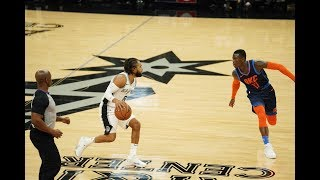 San Antonio Spurs Hit 14 Straight 3-Pointers Against Oklahoma City Thunder | Jan. 10, 2019