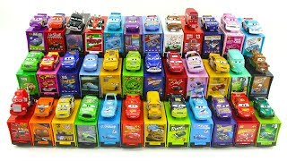 McQueen 36 cars! Find a trailer that fits into the car color.