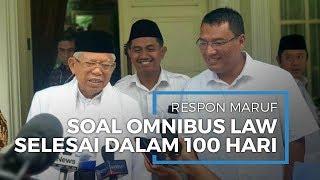 Maruf Amin Respon soal Omnibus Law Harus Selesai Dalam 100 Hari