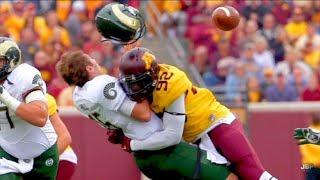Hardest Hits of the 2016-17 College Football Season    Part 1 ᴴᴰ