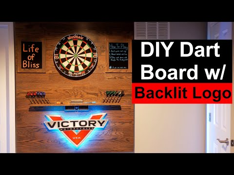 How To Make Dartboard Backboard With LED Backlit Logo