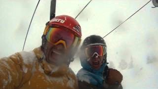 Video made at Alta on a pow day.