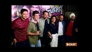 Varun Sharma, Ali Fazal and Zoya Akhtar attend success party of Fukrey Returns