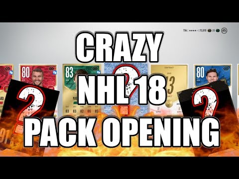 MY BEST NHL 18 PACK OPENING ( so far )