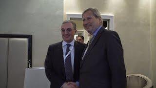 Zohrab Mnatsakanyan a eu une rencontre avec le commissaire européen à l'élargissement et à la politique européenne de voisinage