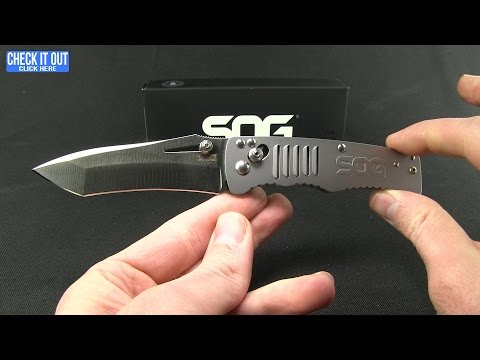 "SOG Targa Tanto Folding Knife (3.50"" Satin) TG1001-BX"
